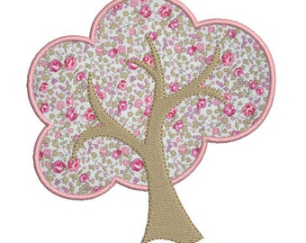 Instant download tree embroidery design applique download