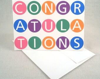 Colorful Circles Congratulations A6 Greeting Card