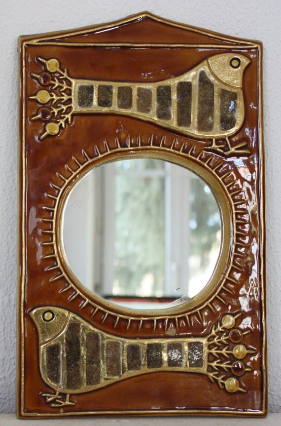 Vallauris francois lembo fran ais sunburst miroir mid century for Miroir francais