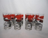 Vintage Gay Fad Cocktail Glasses, S/8