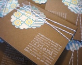 """Notecard Set of 6 Kraft Cards with Stamped """"friend"""""""