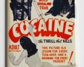 Cocaine Movie Poster Fridge Magnet