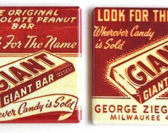 Chocolate Peanut Bar Fridge Magnet Set