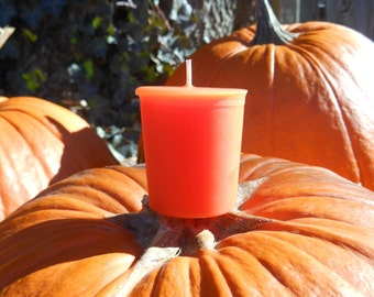 Sweet Pumpkin Spice Soy Replacement Votive Candles 4 Pack Gift Box