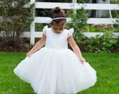 flower girl dress in ivory or white silk