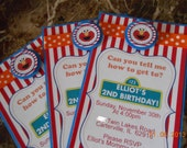 Elmo Birthday Invitations-Sesame Street Birthday Invitations-Elmo Birthday-Sesame Street Birthday-Boy's Elmo Invitation-Sesame Street