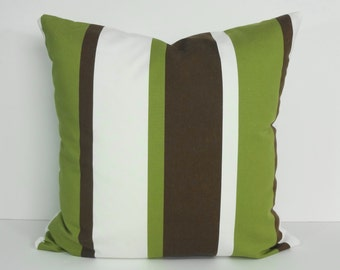 Green and Brown Decovative Pillow Cover, Throw Pillow Cover, Cushion Cover, 20 x 20