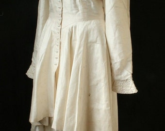 CLEARANCE!!!!!    Vintage Couture Edwardian Style Silk Wedding Gown
