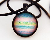 Planet Necklace, Jupiter Astronomical Necklace -Cosmic, Astronomical, Star, Space, NASA- Galaxy Pendant Series