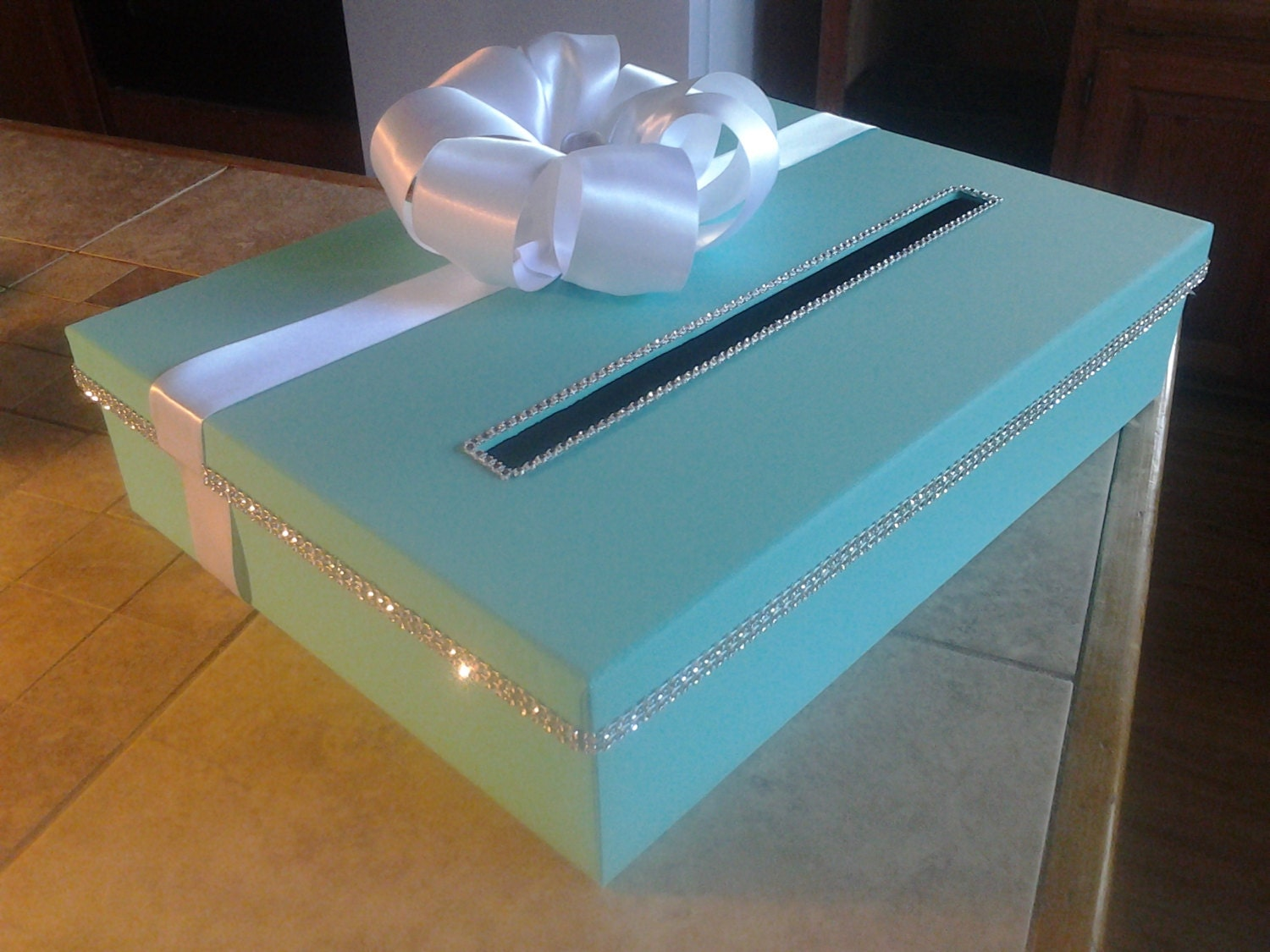 Wedding Shower Gift Card Box : Large rectangle card box for a wedding baby shower bridal