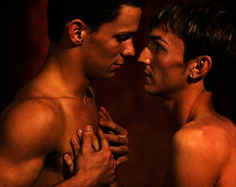 Impact Gay Art Male Art Photo Print by Michael Taggart Photography gay male couple intimate intimacy love touch romantic relationship