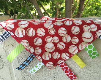 Baseball Tag Blanket your choice of minky color // In Stock, READY TO SHIP