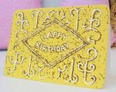 Happy Birthday Custard Cream Biscuit card