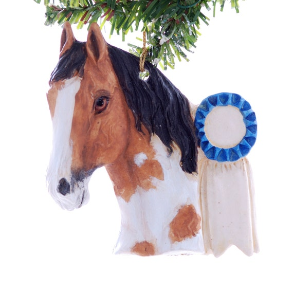 Horse Christmas ornament - Buckskin Paint horse - personalized ornament - gift for your favorite horse lover (h63)