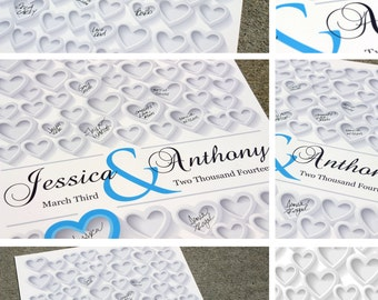 PERSONALIZED WEDDING GIFT | Keepsake Autograph Poster | 20x30 Engagement or Bridal Gift | Personalized Guest Book Wedding Poster sign in_02