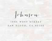 Address Stamp, Custom Address Stamp, Self Inking Address Stamp, Return Address Stamp, Personalized Gift, Rubber Stamp, Bridal Gift