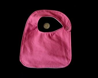 Waterproof Flannel Baby Bib - Solid Pink, Purple, or Teal