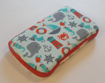Baby Wipes Case, Travel Wipes Case with Nautical Ocean Print
