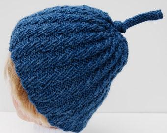 Denim blue hat, knit blue beanie, knit wool hat blue, blue knitted hat, knit beanie blue, blue beanie knit, blue wool beanie, hat denim blue