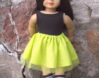 american girl doll skirt: sprite