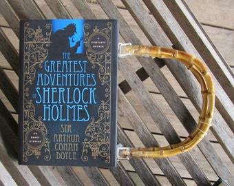 BOOK PURSE - The Greatest Adventures of Sherlock Holmes - Doyle -  Made to Order