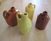 Two little brown jugs with two friends