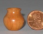 Apricot Turned Wood Miniature Vase