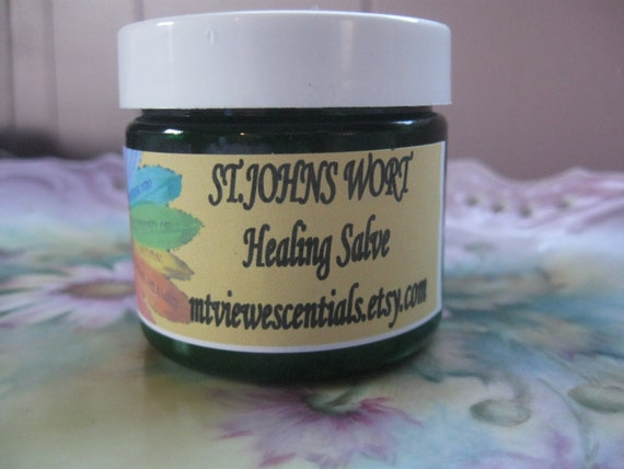 St. Johns Wort Healing Salve Organic natural body healing skin soothing botanical Great for sunburn