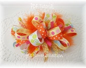 Boutique Hair Bow Funky Loopy Bow Tutorial-Bow Instruction ebook How to PDF-epattern-Bow Pattern-ebook 008
