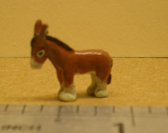 1:12th Donkey Figurine for the Dolls House Christmas Nativity Ornament