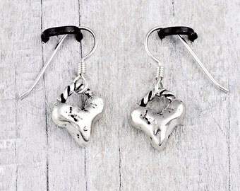 Baby Heart Earrings- Romantic Earrings- Island Cowgirl Jewelry- Heart Jewelry - E723