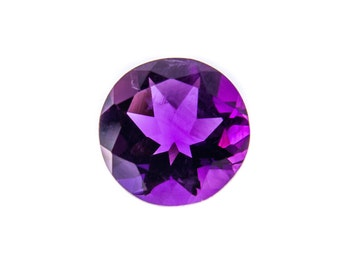 Natural Purple Amethyst Gemstone Faceted Round Size 5 mm, 6 mm, 7 mm, 8 mm