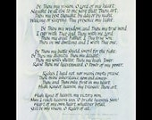 Be Thou My Vision calligraphy print 16 x 20
