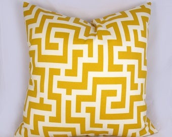 Yellow Maze - Decorative Pillow Cushion Covers - Accent Pillow - Throw Pillow  - Indoor Outdoor