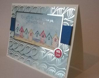 With Love, Seaside Card, Handmade Card
