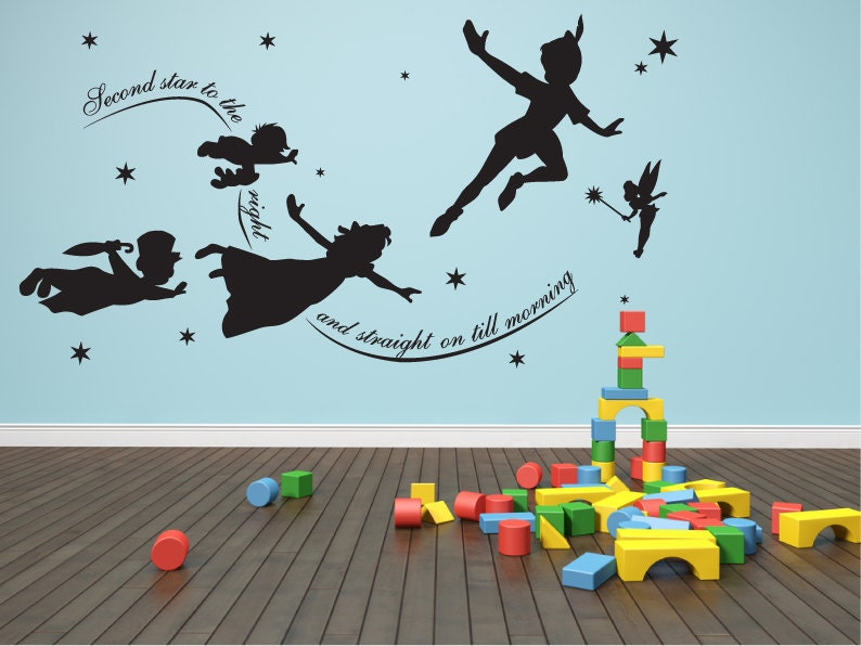 Peter pan wall decal Vinyl mural nursery playroom decal