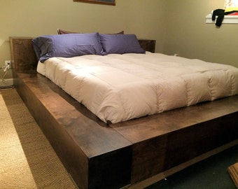 Donnelly - Atlanta Custom Platform Bed w/ Covert, Gunsafe, Storage in Headboard