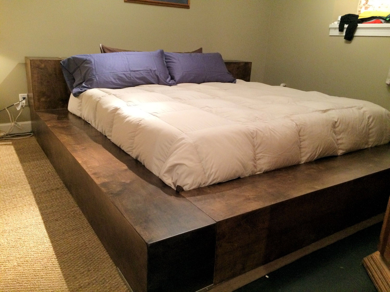 build king size platform bed drawers