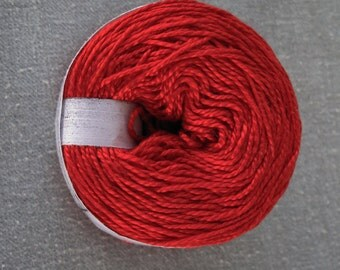 Red 3/2 Mercerized Cotton