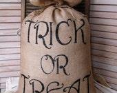 Lg. Burlap Halloween Decoration-FREE SHIPPING-Burlap Pillows-Burlap Halloween Pillow-Halloween Decorations-Trick or Treat decorations-Burlap