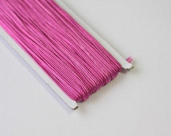 5.5 yards Fuschia pink Soutache Braid, Passementerie Braid, embroidery, Soutache cord, Passementerie cord Trim, gimp cord, soutache jewelry
