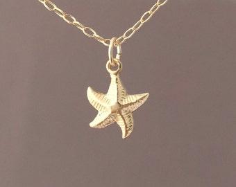 Gold Fill Tiny Starfish Necklace