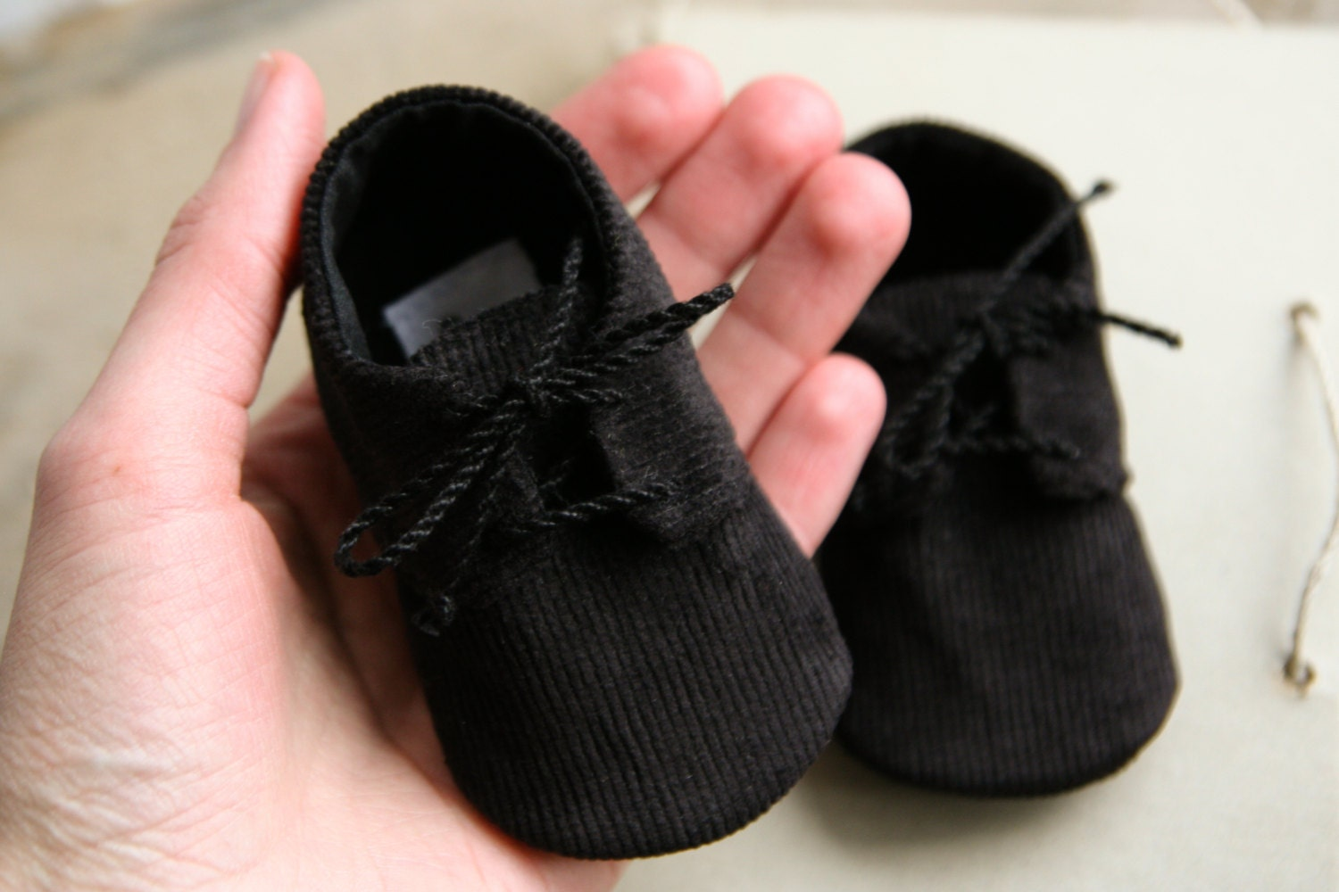 20% OFF BLACK or BROWN corduroy baby boy shoes newborn oxford
