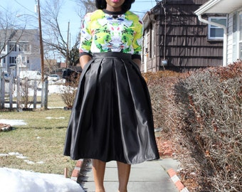 Black Midi Skirt With Pockets- available in 12 colors