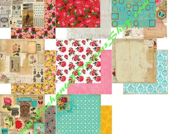 """MOTLEY by designer Marion Smith 12"""" x 12"""" Custom Paper Collection - 8 piece  cardstock collection"""