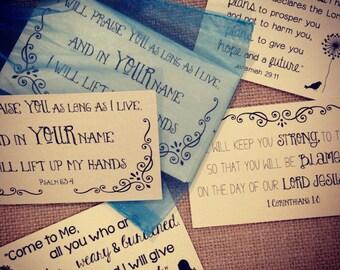 Scripture Cards on Shimmer