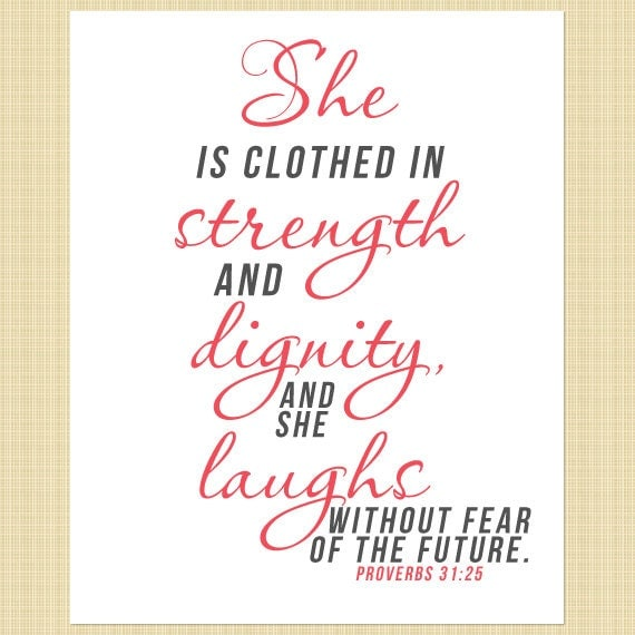 2014 She Is Clothed With Strength And Dignity