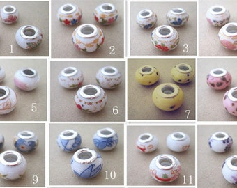 12pcs ( Mixed color )  ceramic beads 9mmx13mm  M003