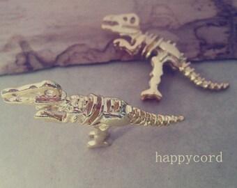 2pcs  Gold color dinosaur Charms pendat 21mmx56mm