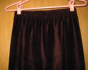 vintage burgundy velour 'Jones New York Sport' leggings . . .  womens size M . . . never worn